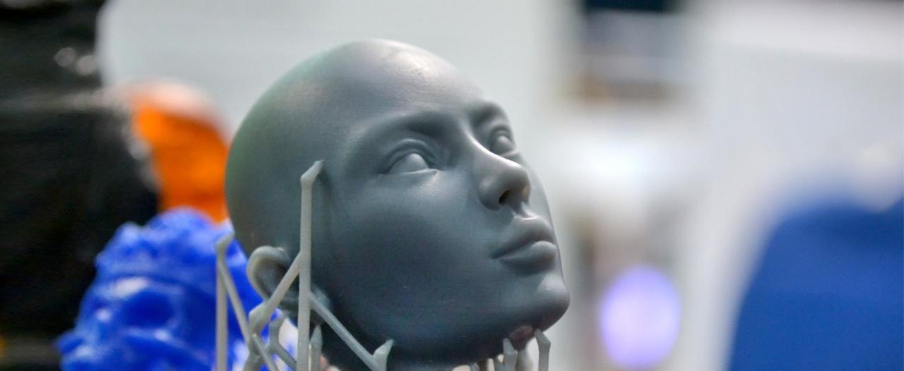Новое лицо на 3D-принтере