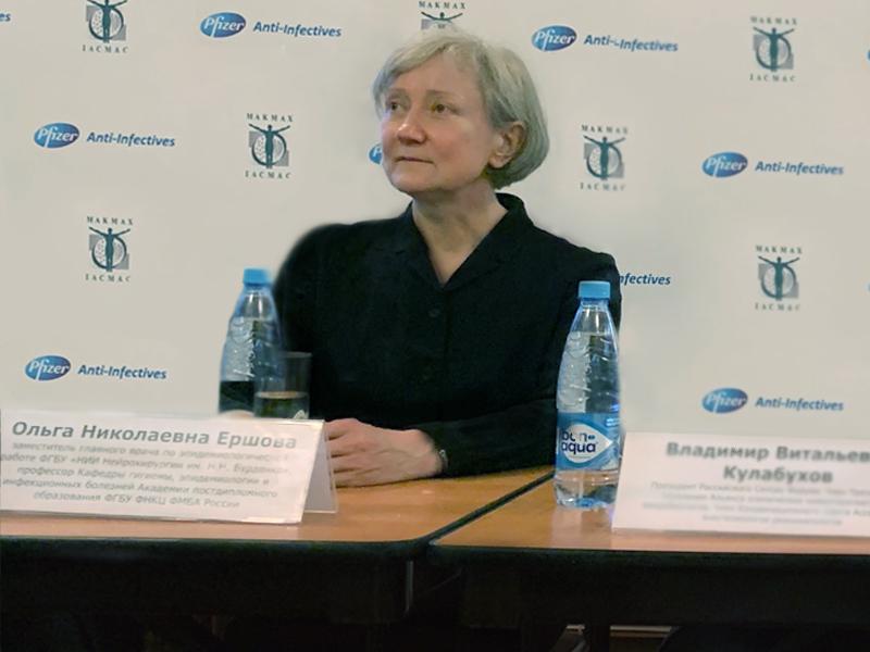 Замглавврача по эпидемиологической работе НИИ нейрохирургии имени Бурденко Ольга Ершова – об антибиотиках