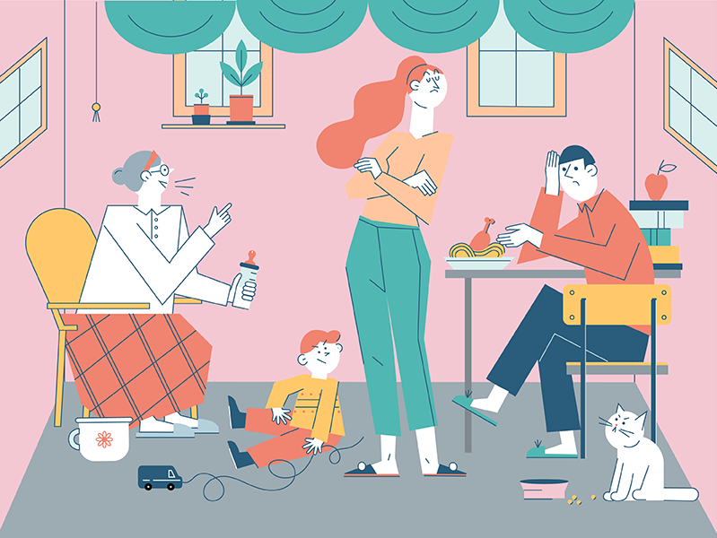 Семейные отношения в условиях самоизоляции