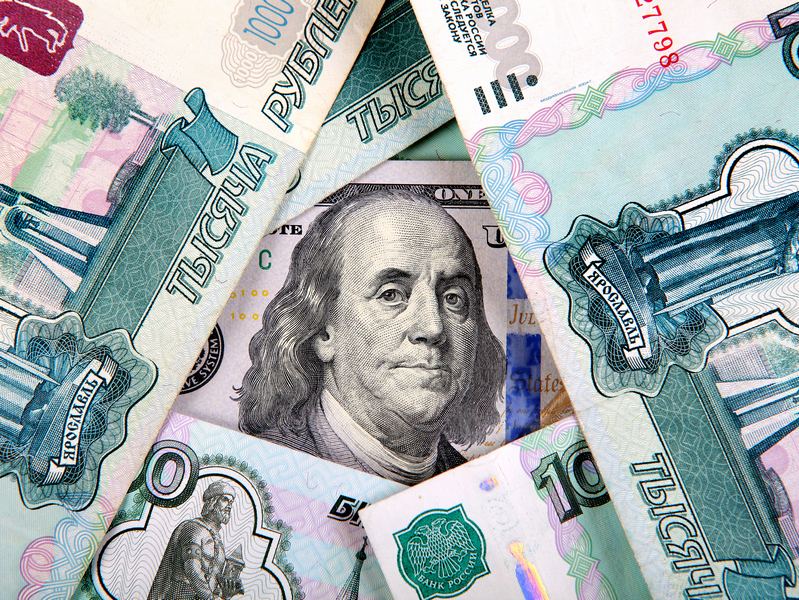 Рубль против доллара