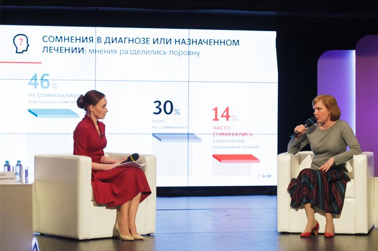 Эвелена Закамская — главный редактор телеканала «Доктор» и Лариса Паутова — управляющий директор Фонда «Общественное мнение».