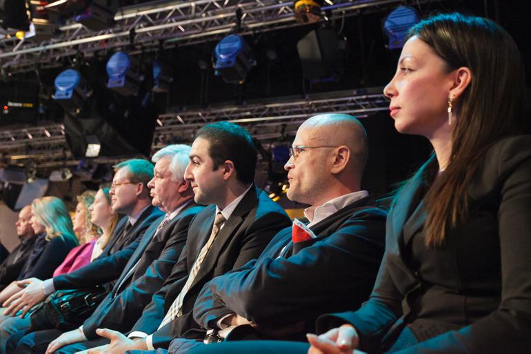 Гости и участники IV Научнога совета в студии телеканала «Доктор».