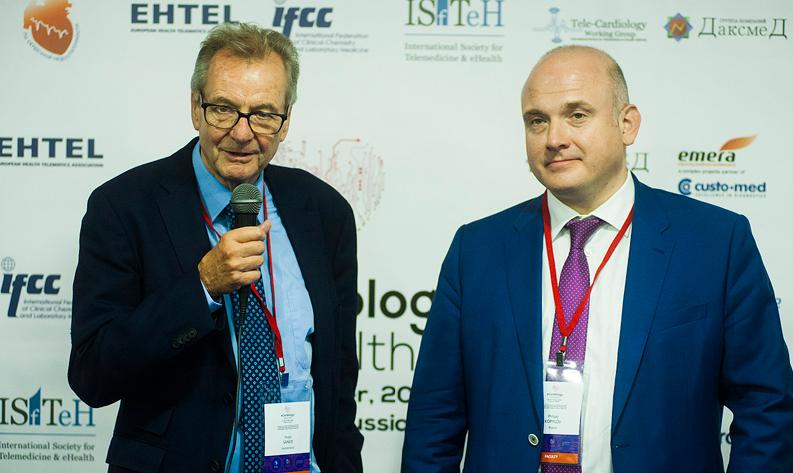 Х. Санер и Ф. Копылов – два содиректора конгресса eCardiology–eHealth`2018, Бернский и Сеченовский университеты